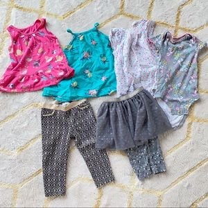 Assorted bundle of 6 piece summer clothes 18M girl